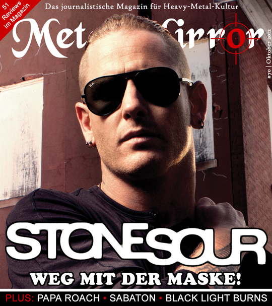Cover von METAL MIRROR #70 - Stone Sour, Black Light Burns, Papa Roach, Kamelot, Sabaton, Trail Of Dead, Metal-Shirt, Rock Science